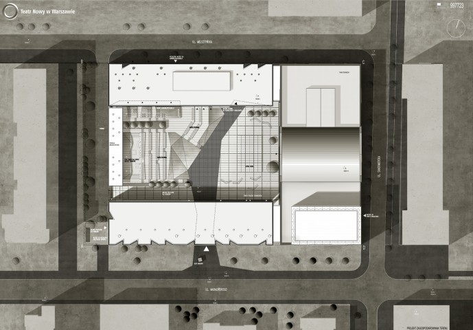 Teatr Nowy, Warsaw - 4th prize in the competition