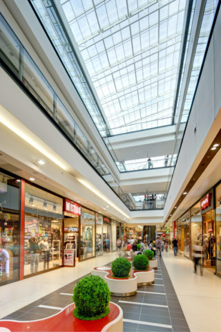 Centrum Handlowe Galeria Echo, projekt wnętrz, Kielce