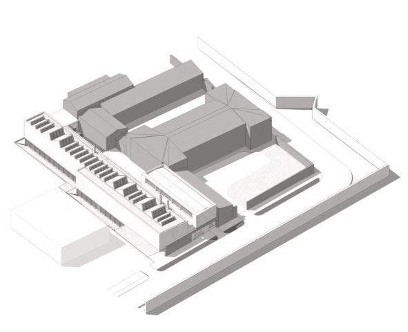 Budynek Dla Wydziału Rzeźby ASP, Warszawa - wyróżnienie honorowe w konkursie