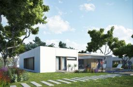 Kinszasa dom jednorodzinny Typ D - od ogrodu